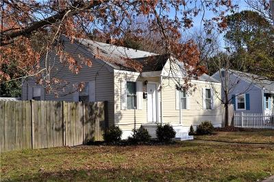 Norfolk Single Family Home New Listing: 8824 Old Ocean View Rd