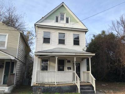 Newport News Single Family Home New Listing: 923 27th St