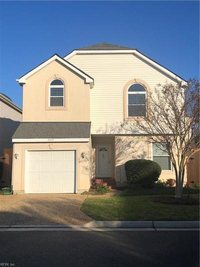 Virginia Beach Single Family Home New Listing: 2288 Cape Arbor Dr