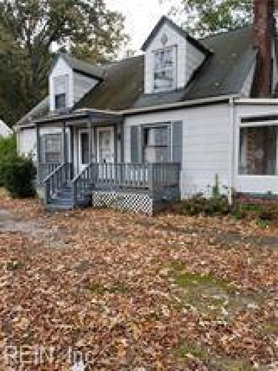 Norfolk Single Family Home New Listing: 6208 Alexander Street St