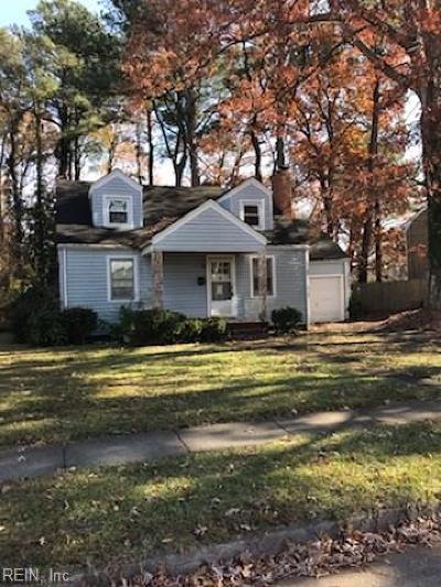 Norfolk Single Family Home New Listing: 6226 Alexander St