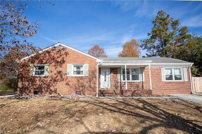 Norfolk Single Family Home New Listing: 2426 Tullibee Dr