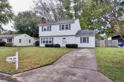 Newport News Single Family Home New Listing: 128 Skipper Ct