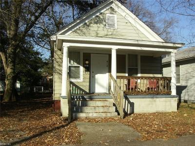Norfolk Single Family Home New Listing: 818 W 42nd St