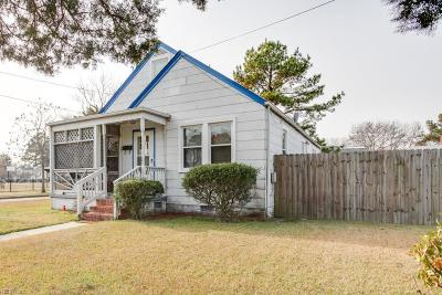Norfolk Single Family Home New Listing: 2901 Peronne Ave
