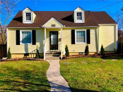 Norfolk Single Family Home New Listing: 3420 East Bonner Dr