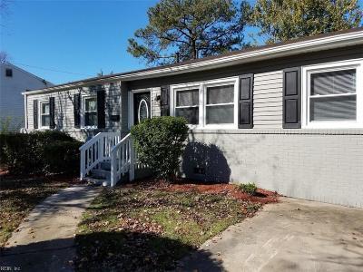 Virginia Beach Single Family Home New Listing: 3024 Cobblestone Dr