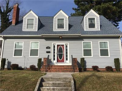 Norfolk Single Family Home New Listing: 1906 Springfield Ave