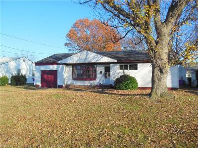 Norfolk Single Family Home New Listing: 8404 Halprin Dr