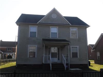 Norfolk Single Family Home New Listing: 625 E Princess Anne Rd