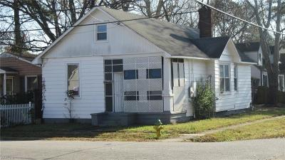 Norfolk Single Family Home New Listing: 3701 Peterson St