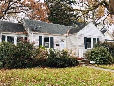 Norfolk Single Family Home New Listing: 2818 Lens Ave