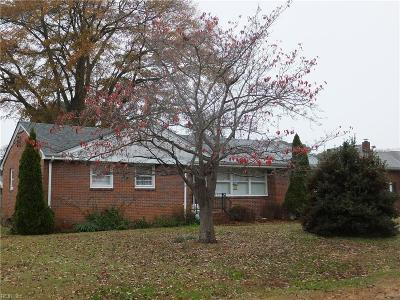 Portsmouth Single Family Home New Listing: 309 Saunders Dr