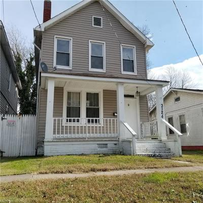 Norfolk Single Family Home New Listing: 3124 Somme Ave