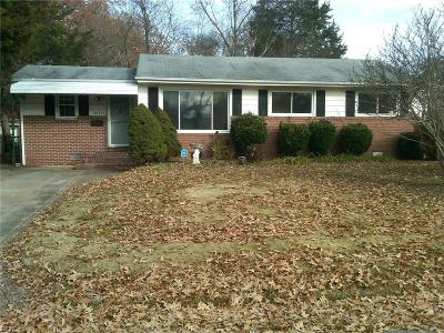 Norfolk Single Family Home New Listing: 3636 Kevin Dr
