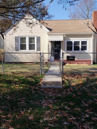 Norfolk Single Family Home New Listing: 2731 Bapaume Ave