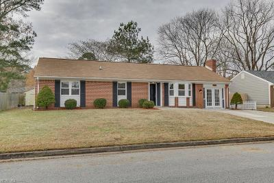 Chesapeake Single Family Home New Listing: 3456 Woodbaugh Dr