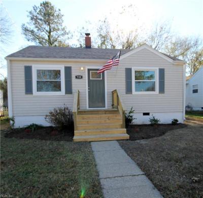 Norfolk Single Family Home New Listing: 739 Kenosha Ave
