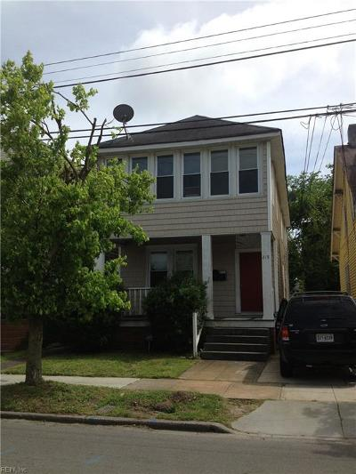 Norfolk VA Multi Family Home For Sale: $195,000