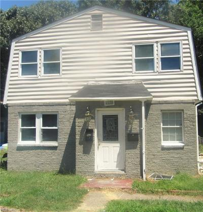 Norfolk VA Multi Family Home New Listing: $140,000