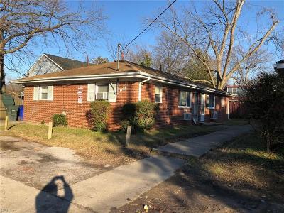 Norfolk VA Multi Family Home For Sale: $152,000