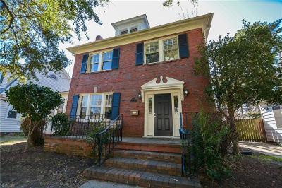 Norfolk Residential For Sale: 1411 Bolling Ave
