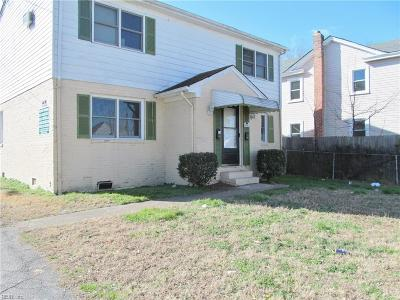Norfolk VA Multi Family Home For Sale: $138,000