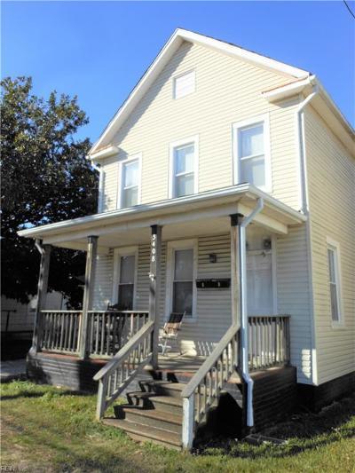 Chesapeake VA Multi Family Home New Listing: $173,500