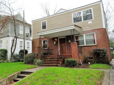 Norfolk VA Multi Family Home New Listing: $275,000