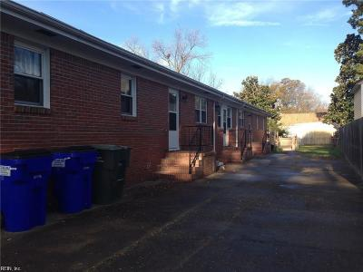 Norfolk VA Multi Family Home For Sale: $210,000