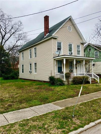 Norfolk VA Multi Family Home New Listing: $120,000