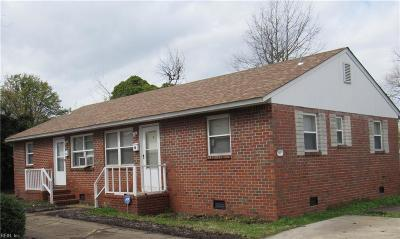 Norfolk VA Multi Family Home New Listing: $145,000