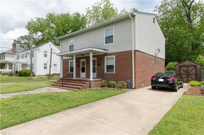 Norfolk VA Multi Family Home Under Contract: $240,000