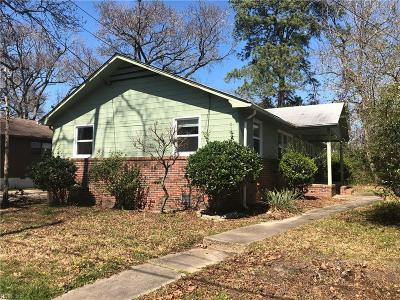 Norfolk VA Multi Family Home New Listing: $159,900
