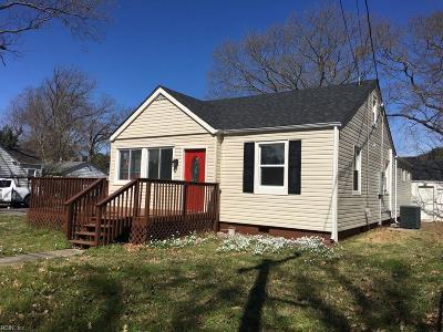 Chesapeake Residential New Listing: 1101 Hughes Ave