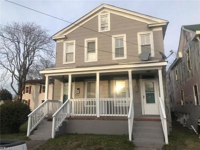 Norfolk VA Multi Family Home Under Contract: $115,000
