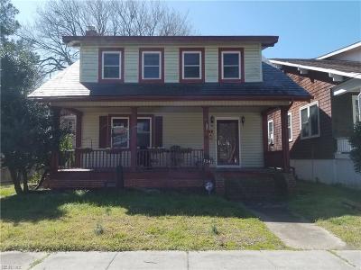 Norfolk Residential For Sale: 1141 Manchester Ave