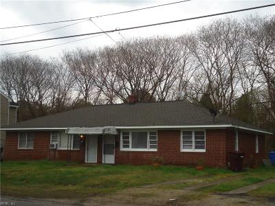 Chesapeake VA Multi Family Home Under Contract: $165,000