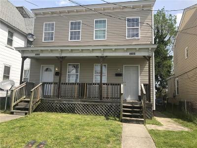 Portsmouth Multi Family Home New Listing: 1509 Maple Ave