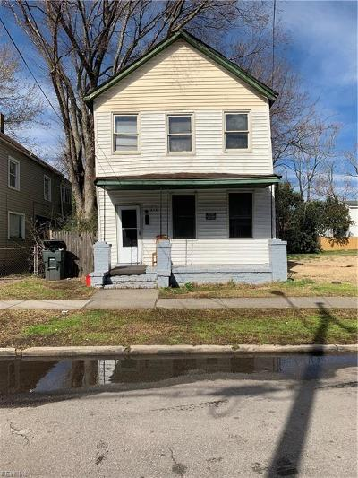 Norfolk VA Multi Family Home New Listing: $45,000