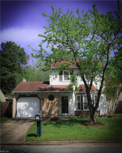 Virginia Beach Residential New Listing: 802 Addison Ct
