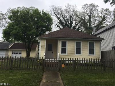 Norfolk Residential New Listing: 3216 Marne Ave