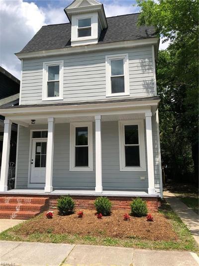 Norfolk Residential For Sale: 820 Baldwin Ave