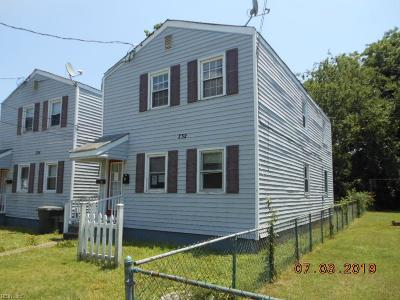 Newport News Multi Family Home New Listing: 732 30th St