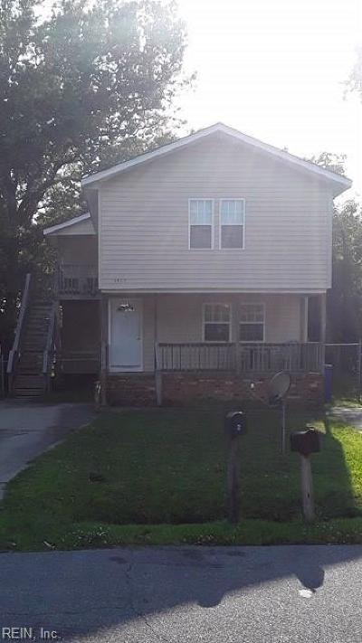 Chesapeake Multi Family Home New Listing: 1415 Martin Ave