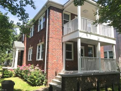 Norfolk VA Multi Family Home Under Contract: $339,900