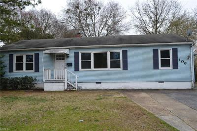 Hampton VA Residential New Listing: $125,000