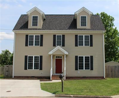 Chesapeake Residential New Listing: 317 Marlow Ct