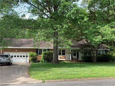 Chesapeake Residential New Listing: 508 Margaret Dr