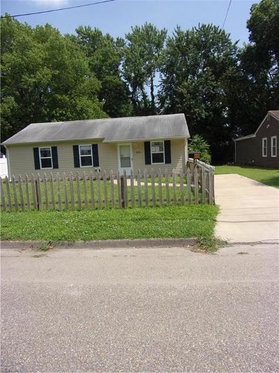Hampton VA Residential New Listing: $107,500